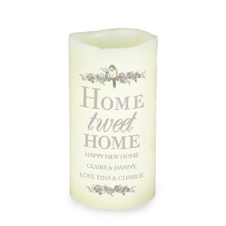 Personalised LED Candle - Home tweet Home